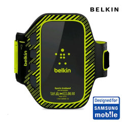 Belkin EaseFit Plus Armband For Samsung Galaxy S3 - Black/Lime