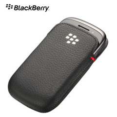 BlackBerry Curve 9320 Leather Pocket - ACC-48097-201 - Black