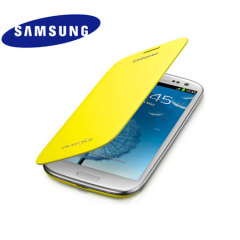 Genuine Samsung Galaxy S3 Flip Cover -Lemon Yellow  - EFC-1G6FYECSTD