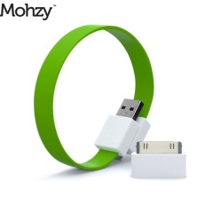 Mohzy Loop Micro USB und Apple Ladekabel in Fresh Lime