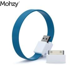Mohzy Loop Micro USB und Apple Ladekabel in Tidal Blue