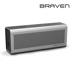 Braven 650 Portable Wireless Bluetooth Lautsprecher Silber Aluminium