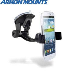 Die Arkon Mobile Grip ist eine der vielseitigsten KFZ Halterungen auf dem Markt und bietet starken Halt an der Windschutzscheibe oder am Armaturenbrett.