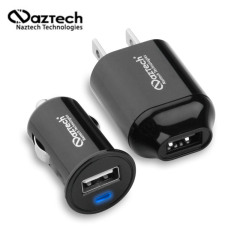 Naztech N100 1000mAh compact Vehicle en Travel USB Charging Kit (US)