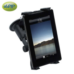 Adhering to flat surfaces such as a car windscreen, the iGrip T5-3764 holder is a strong and fully adjustable mounting solution for a variety of different tablets.