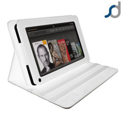SD TabletWear LuxFolio Horizontal Kindle Fire Case - White