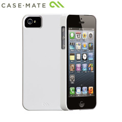 Coque iPhone 5S / 5 Case-Mate Barely There - blanche