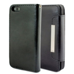 Leather Style Wallet Case for iPhone 5 - Black