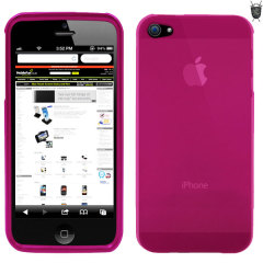 Crystal case like protection with the durability of a silicone case for the iPhone 5S / 5 in pink.