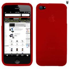 Protezione invisibile per il tuo iPhone 5S / 5 che unisce la resistenza di una custodia rigida alla flessibilità del silicone. Colore rosso.
