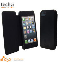 Tech21 Impact Snap iPhone 5 Hülle mit Cover in Schwarz