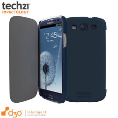 Custodia con cover Tech21 Impact per Samsung Galaxy S3 - Blu