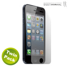 Protection d'écran iPhone 5 HD BodyGuardz Anti-reflets - Pack de deux