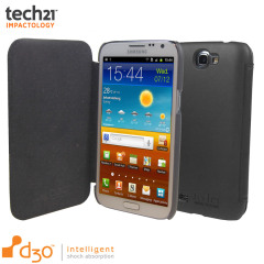 Tech21 Impact Snap Galaxy Note 2 Hülle mit Cover in Grau