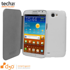 Tech21 Impact Snap Galaxy Note 2 Hülle mit Cover in Weiß