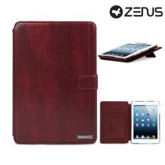 Zenus Neo Classic Diary iPad Mini 2 / iPad Mini Ledertasche in Weinrot