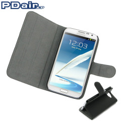 Protect your Samsung Galaxy Note 2 with this ultra-thin and stylish genuine leather book case and stand from PDair.