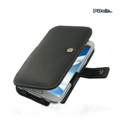 Stylish Leather Case forFlip for Samsung Galaxy Note 2 With Clip with removable 360 degrees belt clip included.