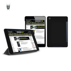 Funda iPad Mini Flexishield compatible con Smart Cover - Negra
