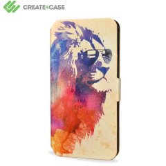 Custodia con flip in pelle Create And Case per iPhone 5S / 5 - Sunny Leo