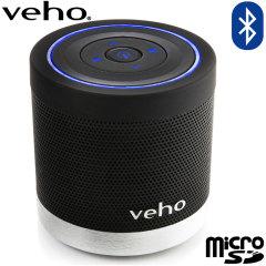 Den trådlösa högtalaren Veho 360° M4 B förblir helt bärbar med ett 600mAh uppladdningsbart batteri som ger en uppspelningstid på upp till 5 timmar.