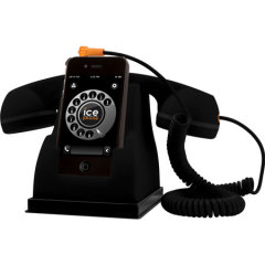 Ice-Phone Retro Telefoon - Zwart