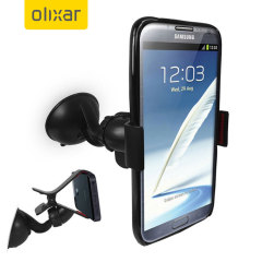 Hold even large mobile devices safely and comfortably in your vehicle with this universal car holder by Olixar.