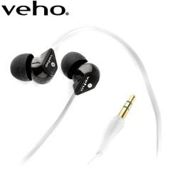 Ecouteurs isolant Veho 360 avec câble Flat Flex anti-nœuds - Blanc