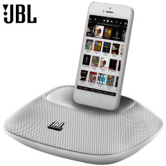 Dock con altoparlanti per dispositivi Apple con connettore Lightning JBL OnBeat Micro - Bianco