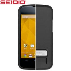 Coque Google Nexus 4 Seidio Surface - Noire