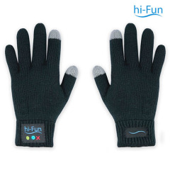 Hi-Fun Bluetooth Gloves for Men - Black