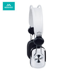 Merkury Retro Stereo Headphones - White