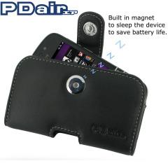 PDair Leren Case voor BlackBerry Q10 Horizontale Pouch Type - Zwart
