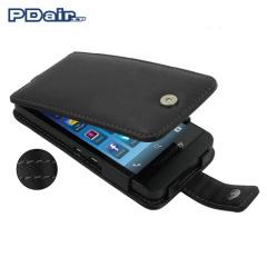 PDair Leren Flip Case voor BlackBerry Z10 - Zwart
