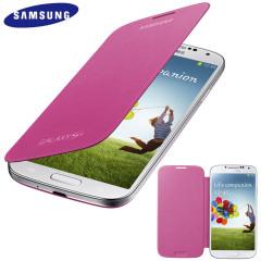 Funda Samsung Galaxy S4 con tapa Oficial  - Rosa  - EF-FI950BBEGWW