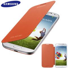 Funda Samsung Galaxy S4 con tapa Oficial - Naranja  - EF-FI950BBEGWW