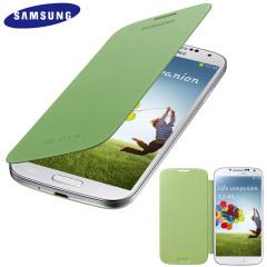 Funda Samsung Galaxy S4 con tapa Oficial  - Verde Lima - EF-FI950BBEGWW