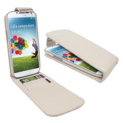 Galaxy S4 Tasche im Flip Design in Weiß