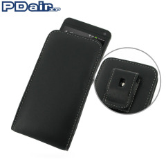PDair Vertical Leather Pouch Case with Belt Clip - HTC One