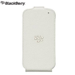 BlackBerry Q10 Flip Shell - White - ACC-50707-202