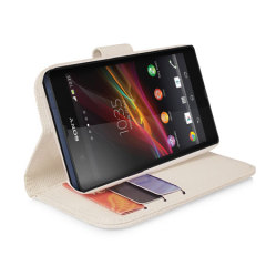 Sony Xperia Z Stand / Wallet Case - White