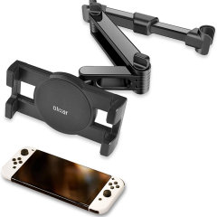 Easy to install tablet car headrest mount fits any tablet for a comfortable viewing angle for the whole family.