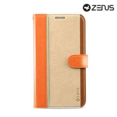 Custodia Masstige Fast Track Diary Zenus per Samsung Galaxy S4 - Arancione