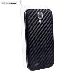 Pellicola protettiva Carbon Fibre Armor Skin di BodyGuardz per Samsung Galaxy S4 - Nero