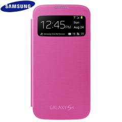 Funda oficial Samsung Galaxy S4 S-View Premium - Rosa