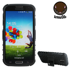 ArmourDillo Hybrid Galaxy S4 Hülle in Schwarz