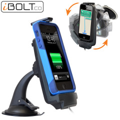 Hold and charge your iPhone SE / 5S / 5C / 5 safely with this case compatible iProDock 5 Vehicle Dock by iBolt.