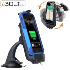 Sujete y cargue su iPhone de forma segura con el soporte de coche compatible con fundas iProDock de iBolt.