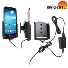 Charge and use your Samsung Galaxy S4 with this Brodit active holder that can be installed discreetly inside your dashboard.