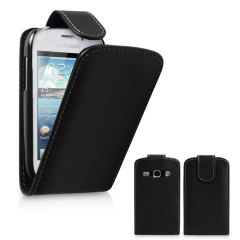 This leather style flip case is a simple and stylish protective case for your Samsung Galaxy Fame.